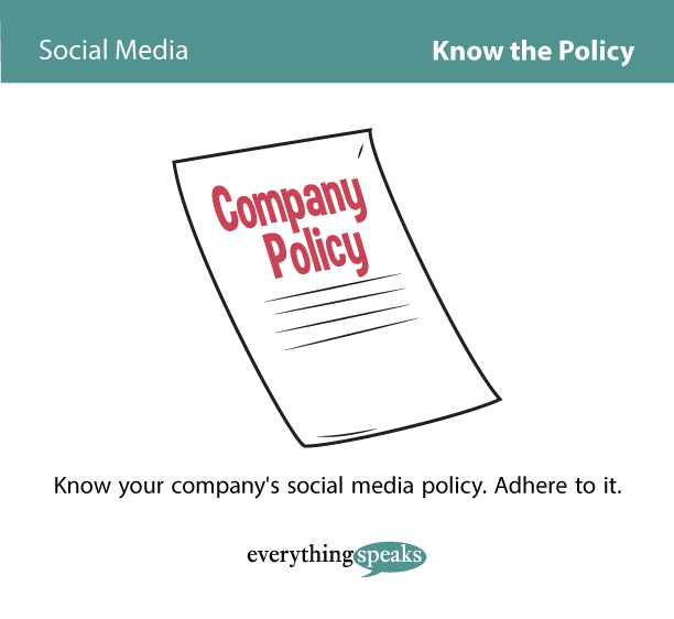 Social Media At Work – Know The Policy