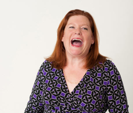 Lee M Caraher - laughing white background