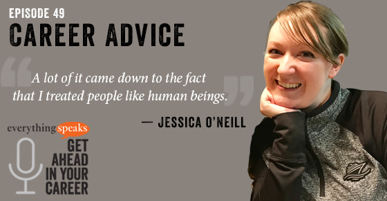 Jessica O'Neil Career Advice